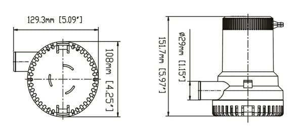12 volt 1500gph bilge pump
