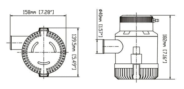 SEAFLO 3000GPH BILGE PUMP / SFBP1-G3000-01