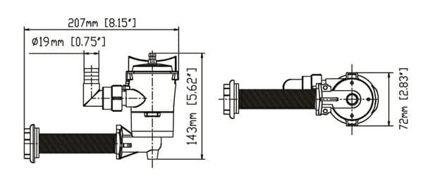 12 volt 600gph bilge pump