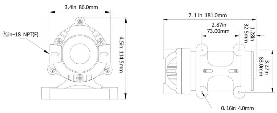 12v diaphragm pump 36 series 12 volt pumps dc pumps australia diaphragm pump 36 series tech diagram ccuart Choice Image